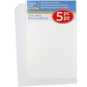 4 pc Artist's Loft Canvas Pack Painting Supplies